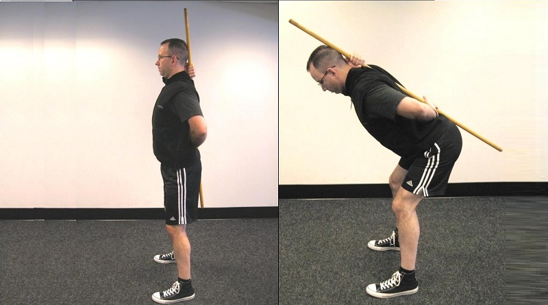 squat bastone