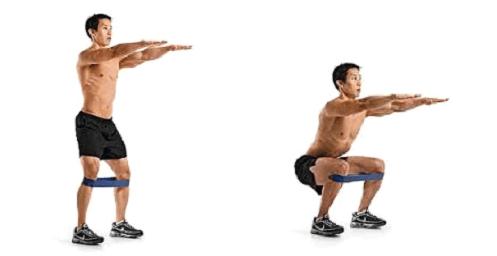 squat con abduzione