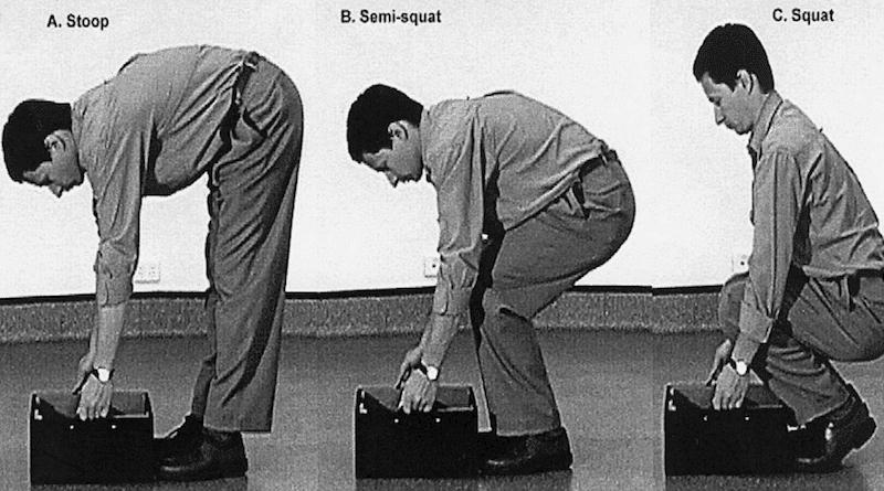 Sollevare pesi con la schiena curva fa male?