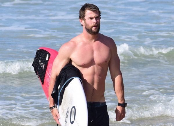 Chris Hemsworth fisico di thor
